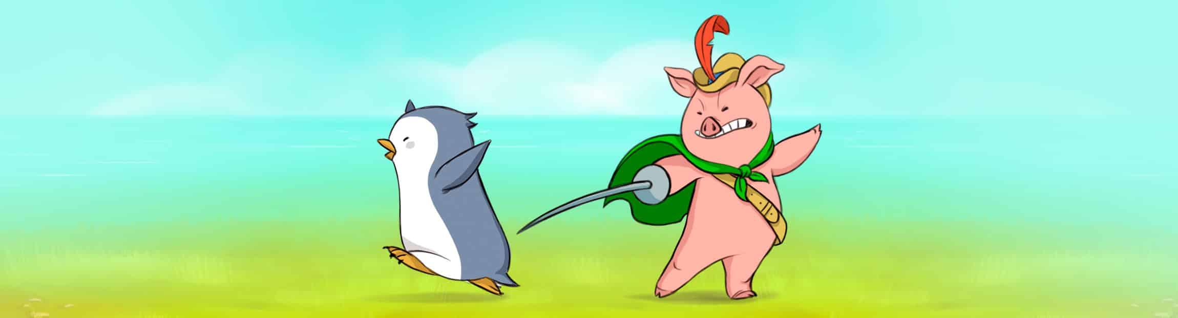 Personajes del cortometraje de animación 2D