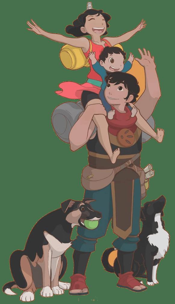 Diseño familia de personajes para proyecto de desarrollo 2D