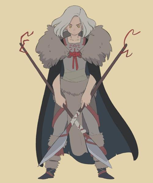 diseño de personaje Shewolf