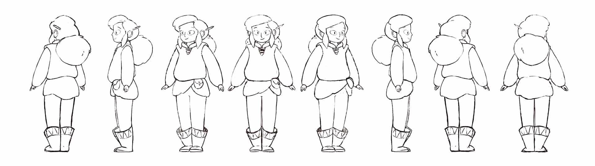 diseño de personaje turn around