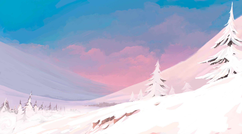 Background día para clip de abimación 2D Navidad Fantástica