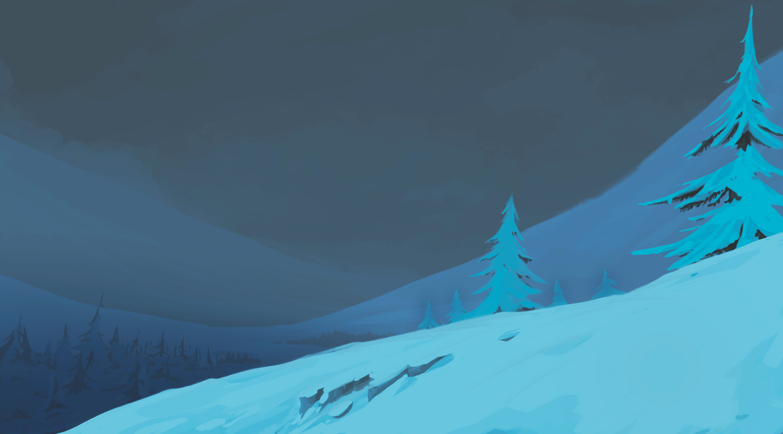Background noche para clip de abimación 2D Navidad Fantástica